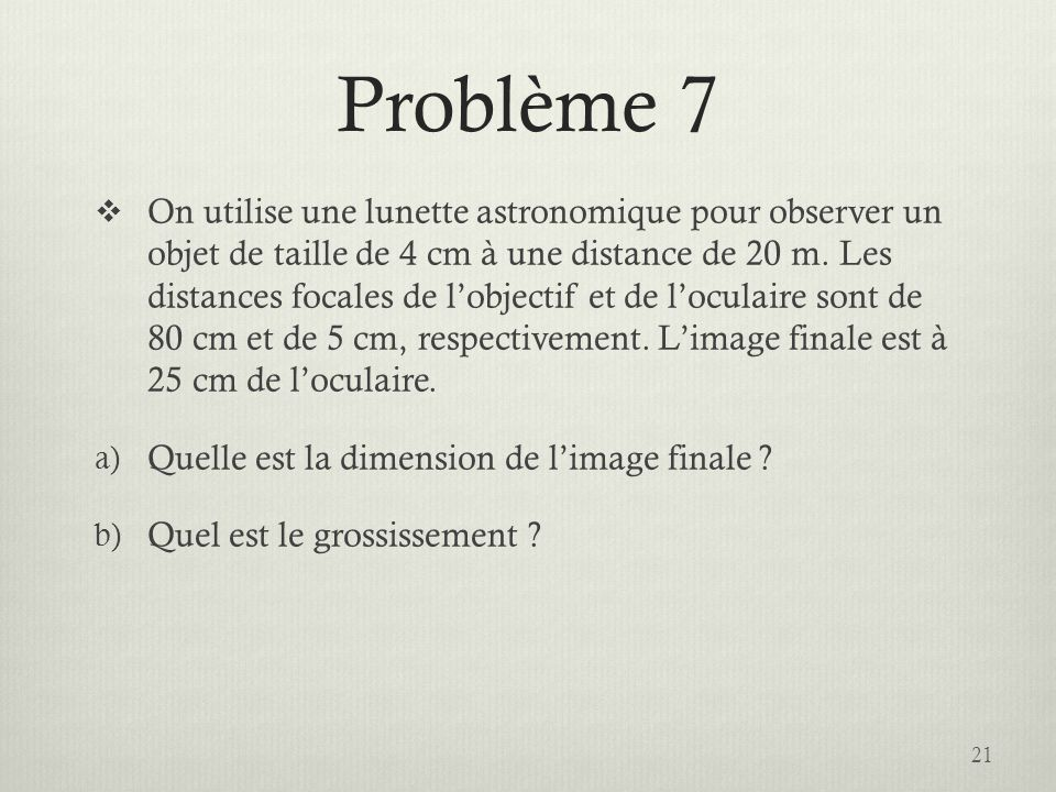 Problème 7