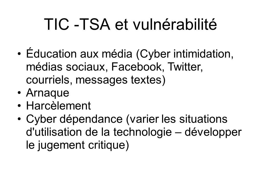 TIC -TSA et vulnérabilité