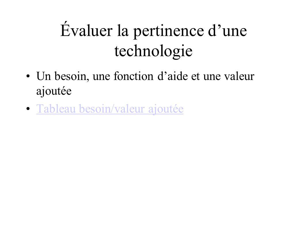 Évaluer la pertinence d'une technologie