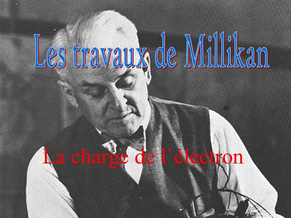 Les travaux de Millikan