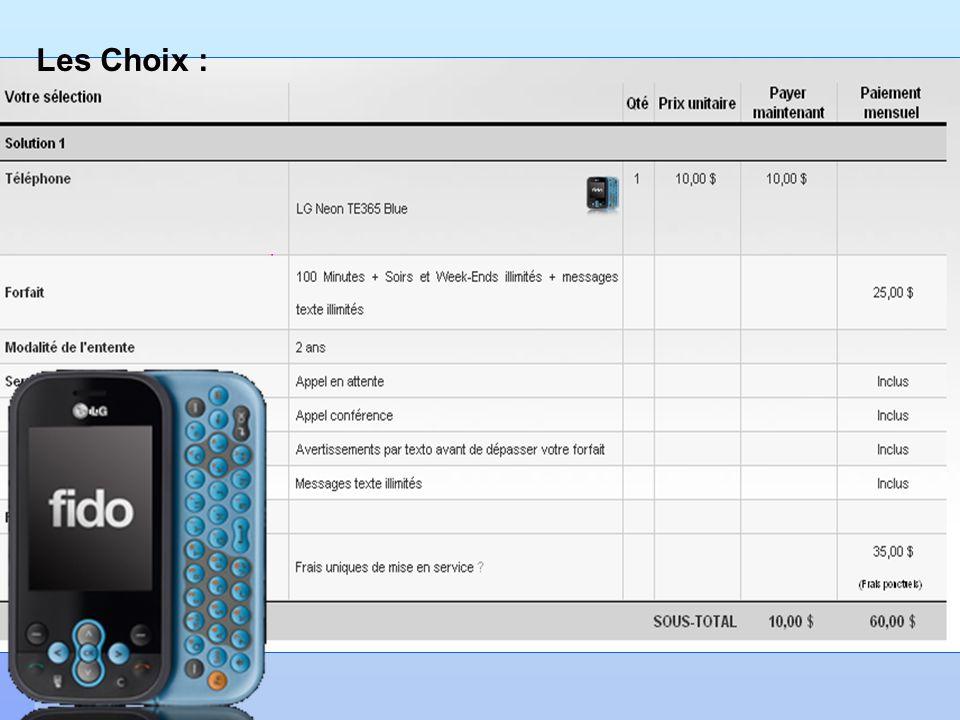 Les Choix : Cellulaire ou pas