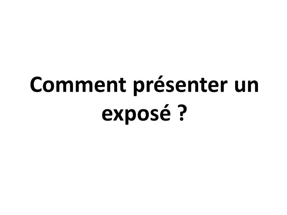 Comment présenter un exposé