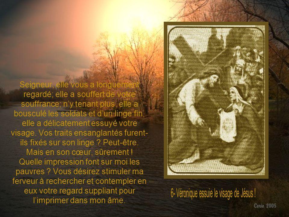 6- Véronique essuie le visage de Jésus !