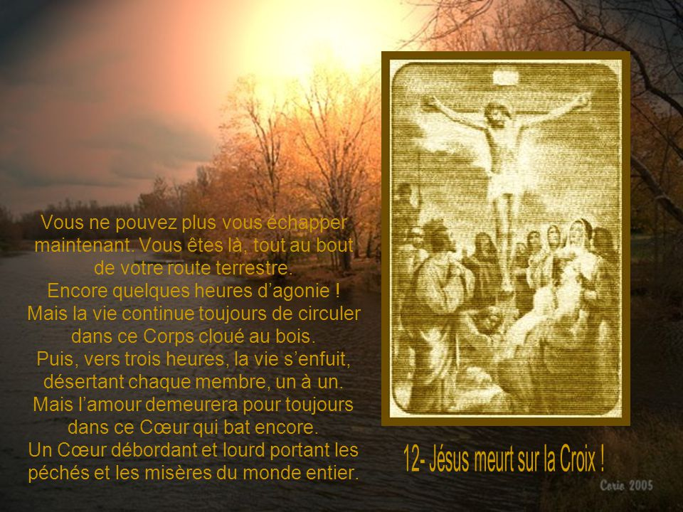 12- Jésus meurt sur la Croix !