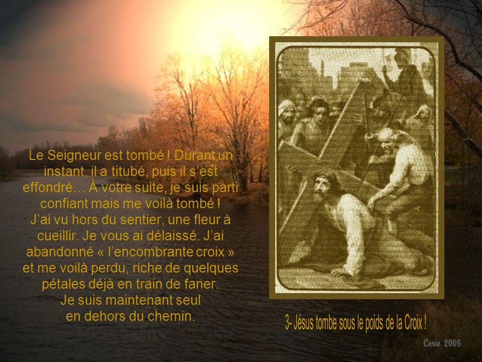 3- Jésus tombe sous le poids de la Croix !
