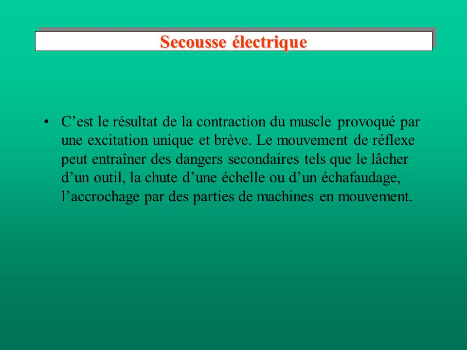 Secousse électrique