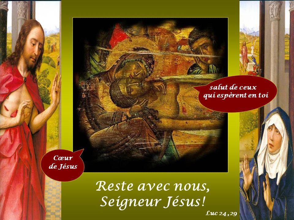 Reste avec nous, Seigneur Jésus ! salut de ceux qui espèrent en toi