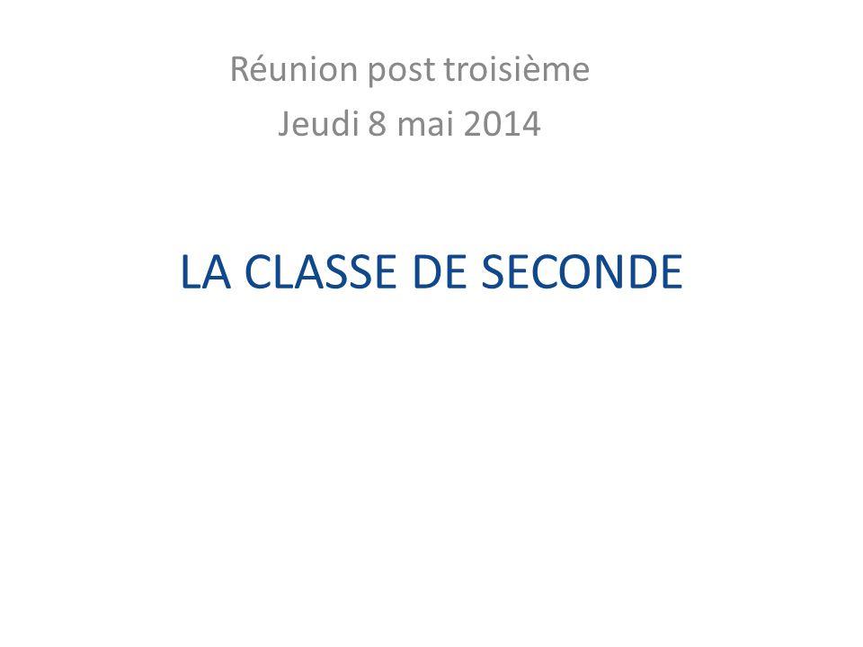 Réunion post troisième Jeudi 8 mai 2014