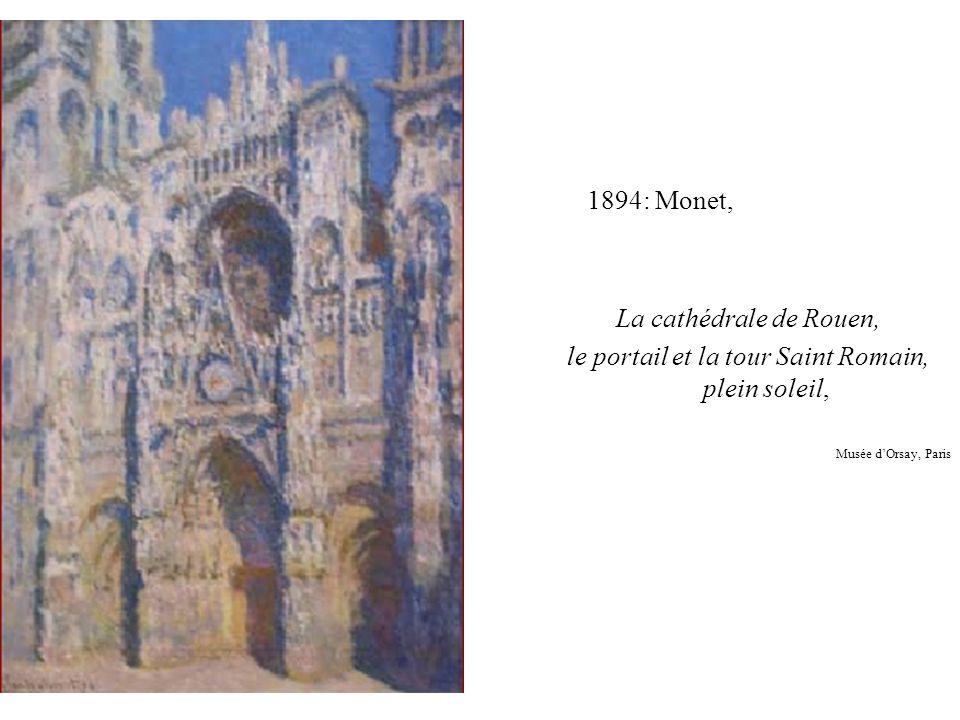 le portail et la tour Saint Romain, plein soleil,