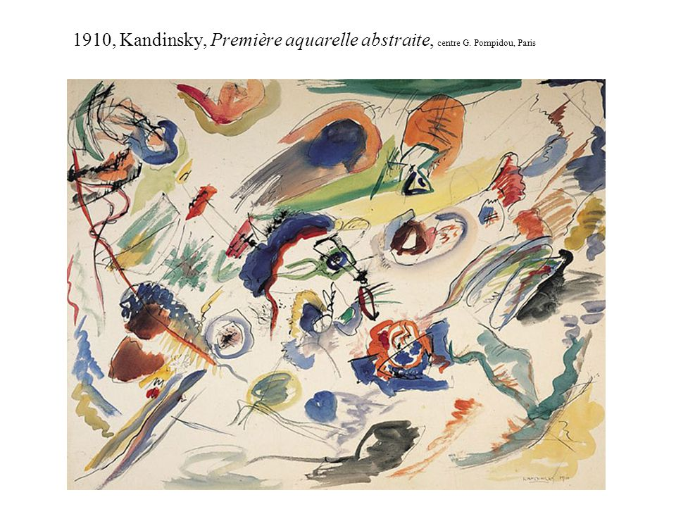 1910, Kandinsky, Première aquarelle abstraite, centre G