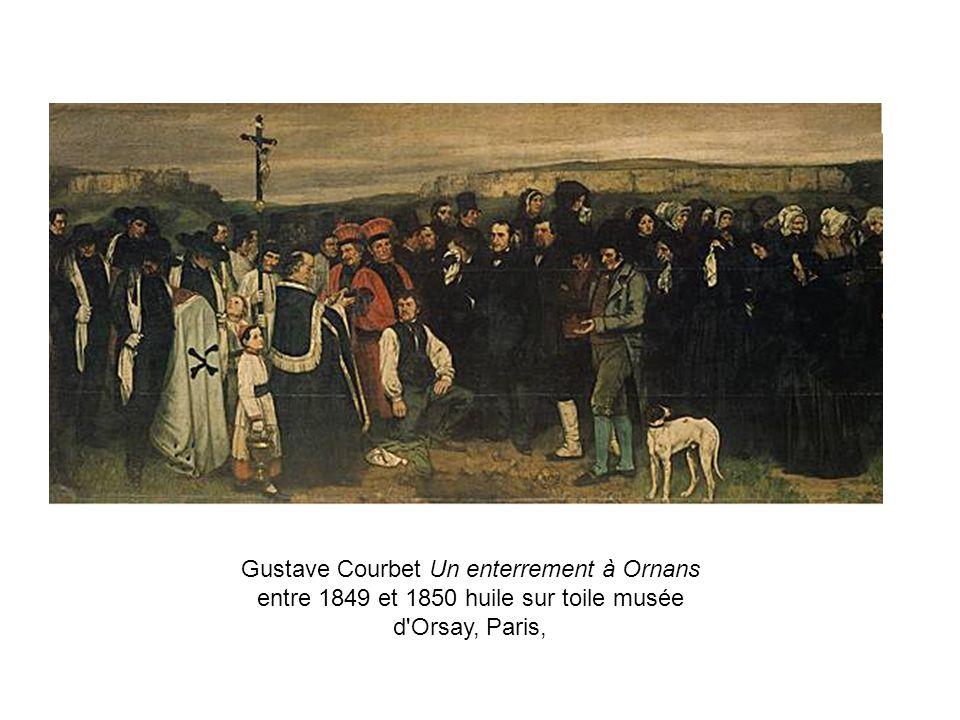 Gustave Courbet Un enterrement à Ornans entre 1849 et 1850 huile sur toile musée d Orsay, Paris,