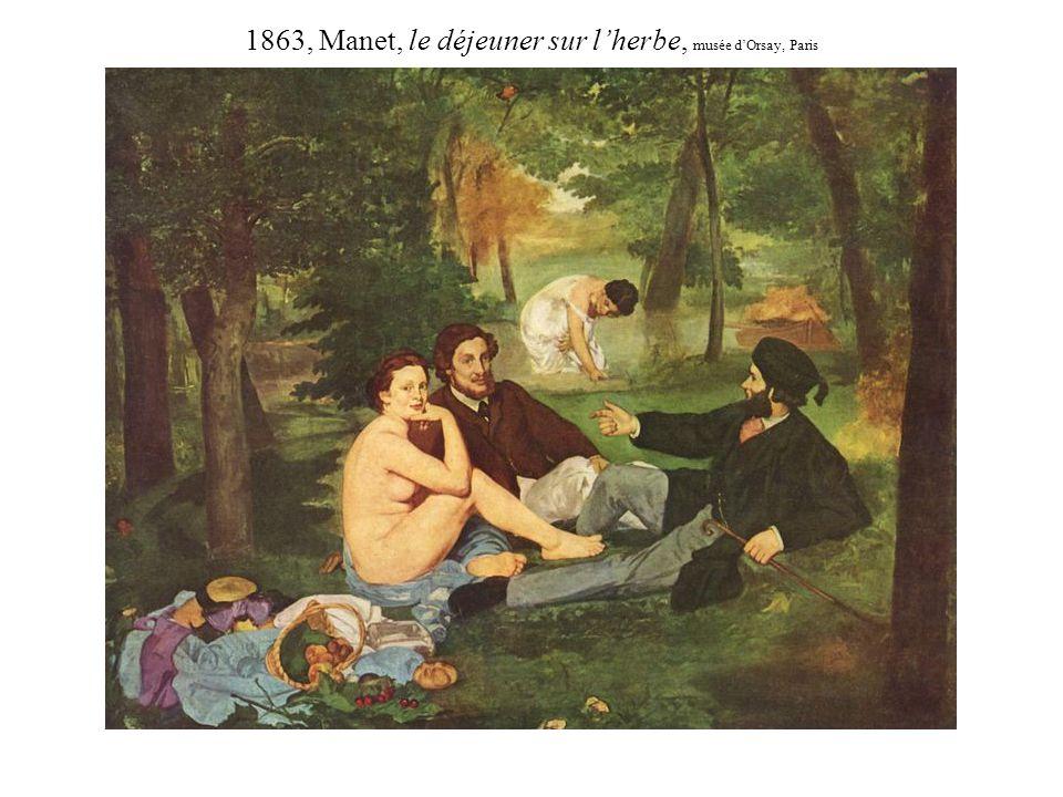 1863, Manet, le déjeuner sur l'herbe, musée d'Orsay, Paris