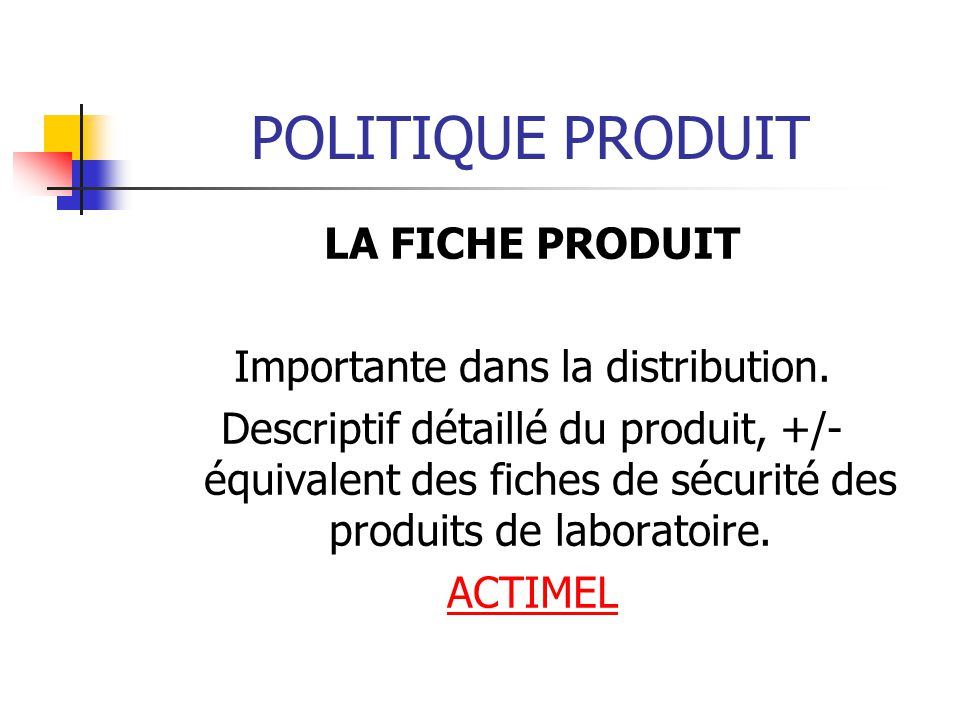 Importante dans la distribution.