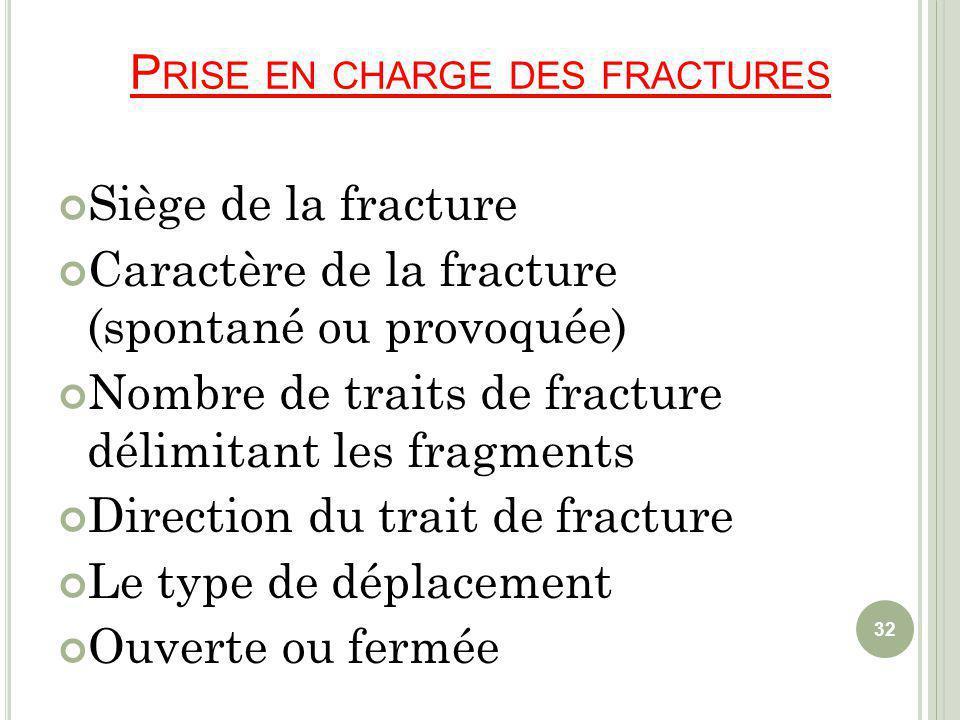 Prise en charge des fractures