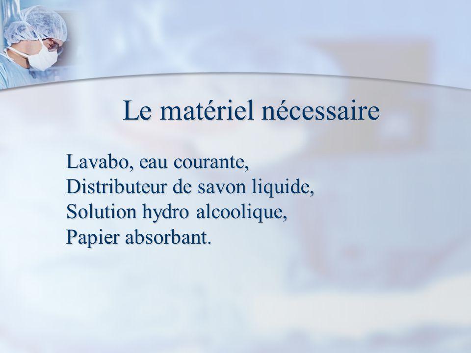 Le matériel nécessaire