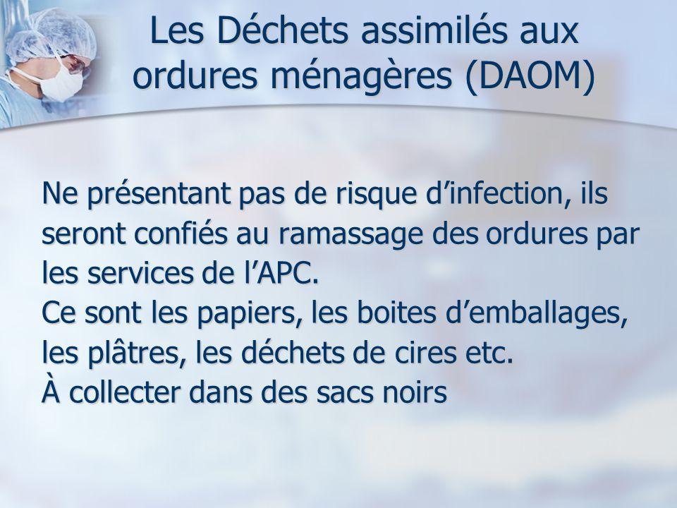 Les Déchets assimilés aux ordures ménagères (DAOM)