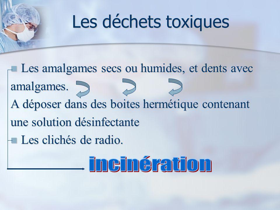 Les déchets toxiques incinération