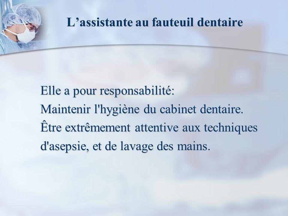 L'assistante au fauteuil dentaire