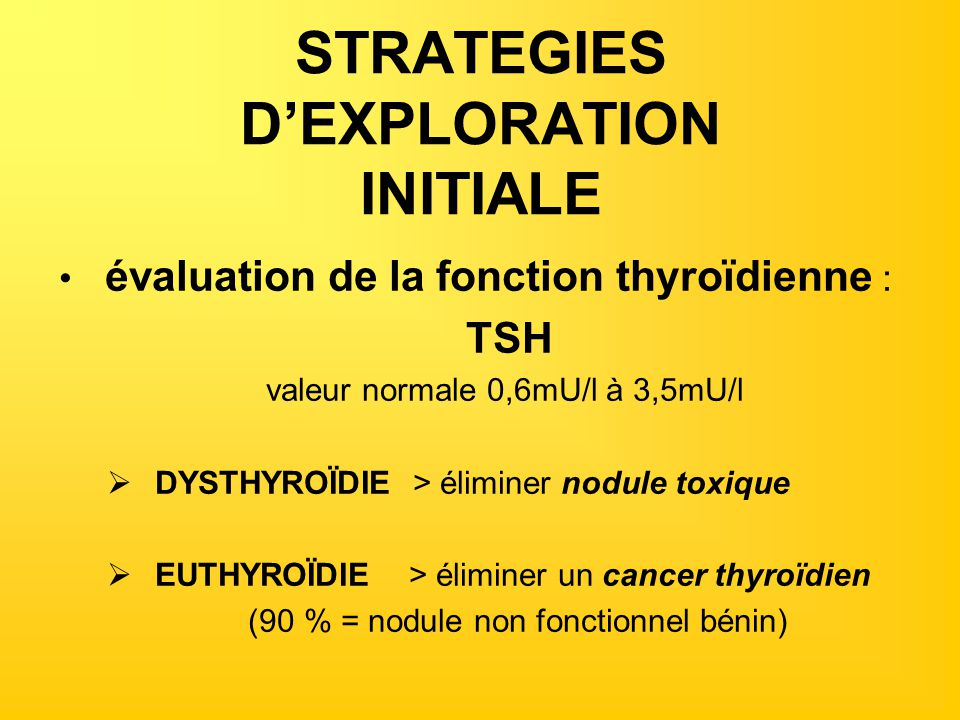 STRATEGIES D'EXPLORATION INITIALE