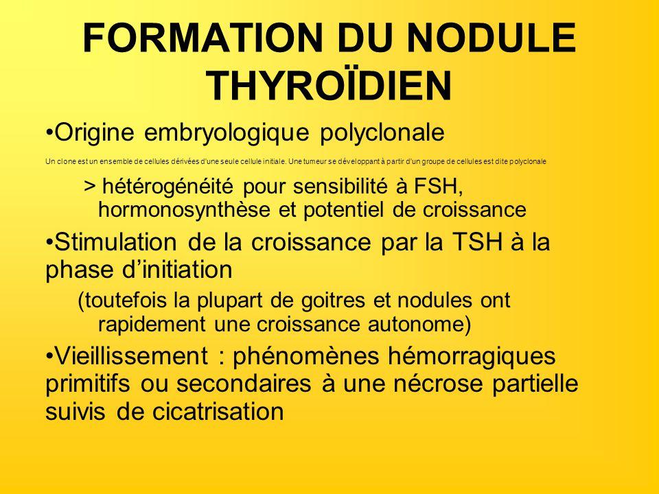 FORMATION DU NODULE THYROÏDIEN