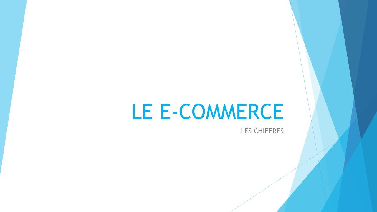 LE E-COMMERCE LES CHIFFRES Page de présentation