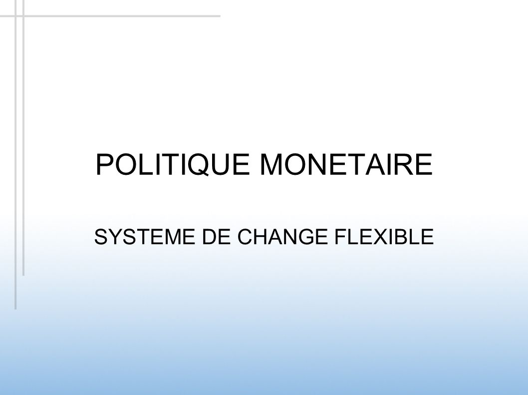 SYSTEME DE CHANGE FLEXIBLE