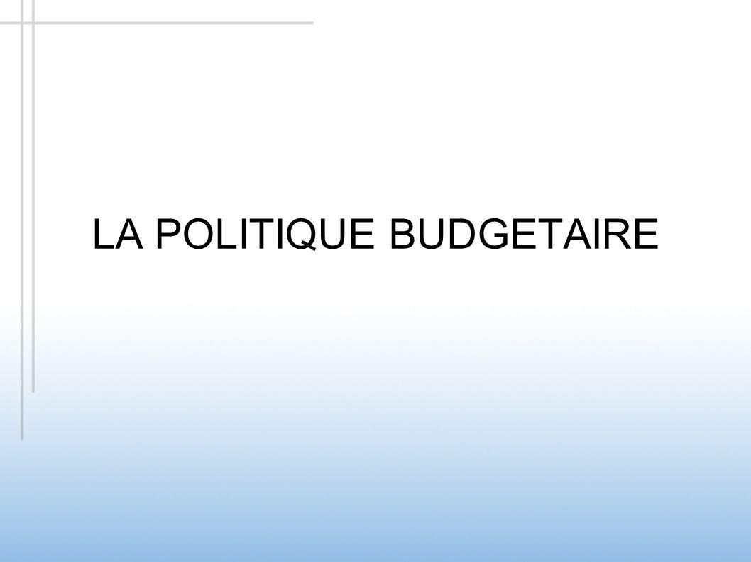 LA POLITIQUE BUDGETAIRE