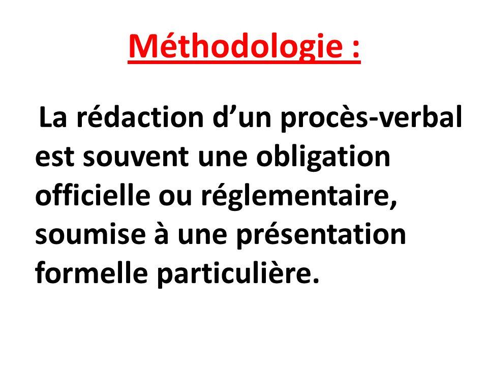 Méthodologie :