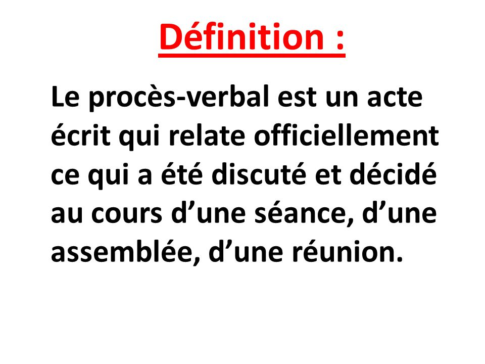 Définition :