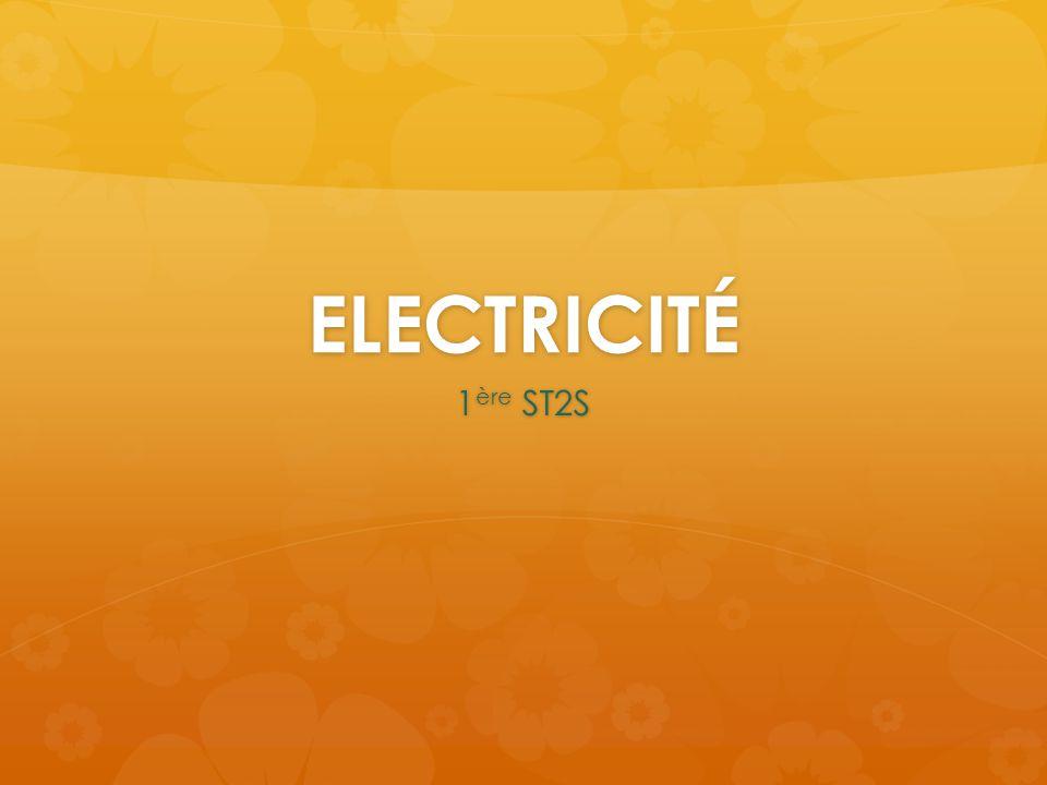 ELECTRICITÉ 1ère ST2S
