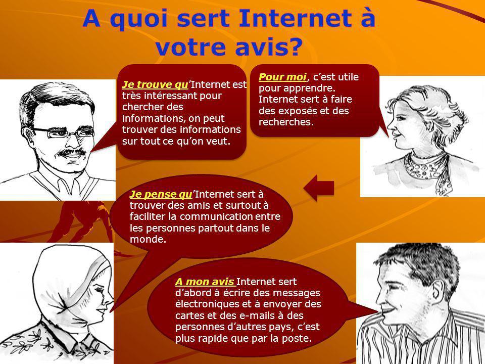 A quoi sert Internet à votre avis
