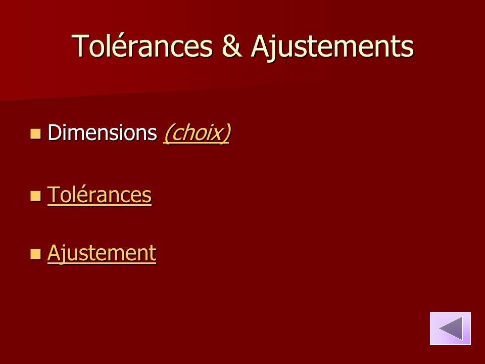 Tolérances & Ajustements