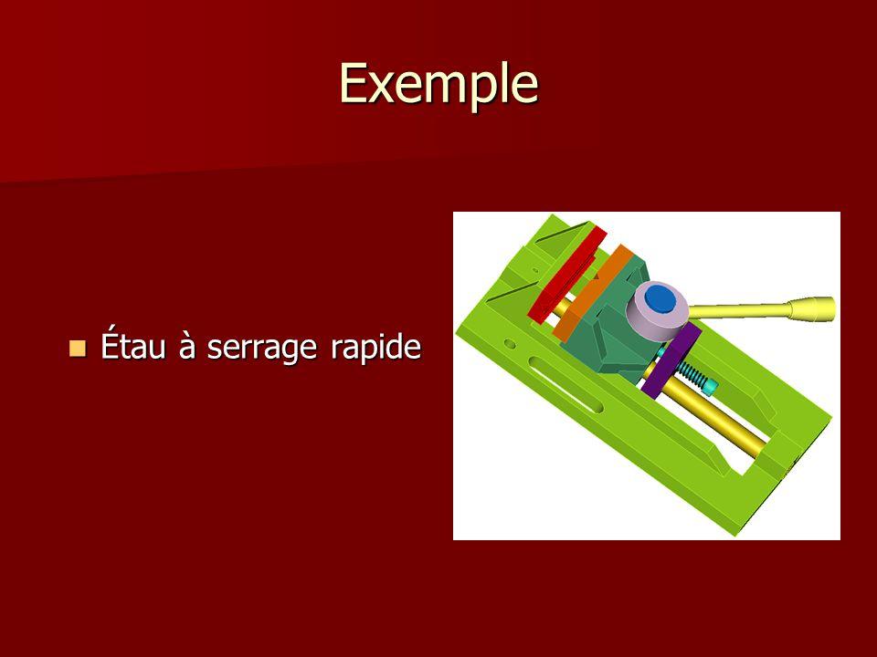 Exemple Étau à serrage rapide