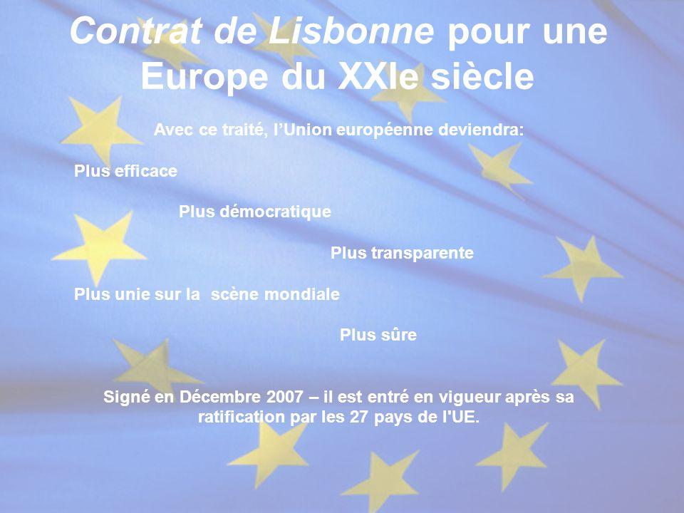 Contrat de Lisbonne pour une Europe du XXIe siècle