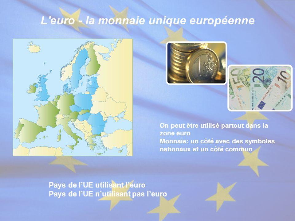 L euro - la monnaie unique européenne
