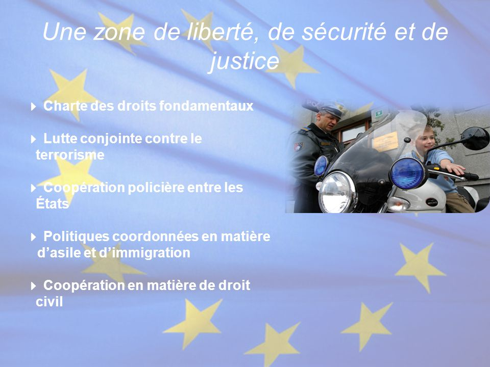 Une zone de liberté, de sécurité et de justice