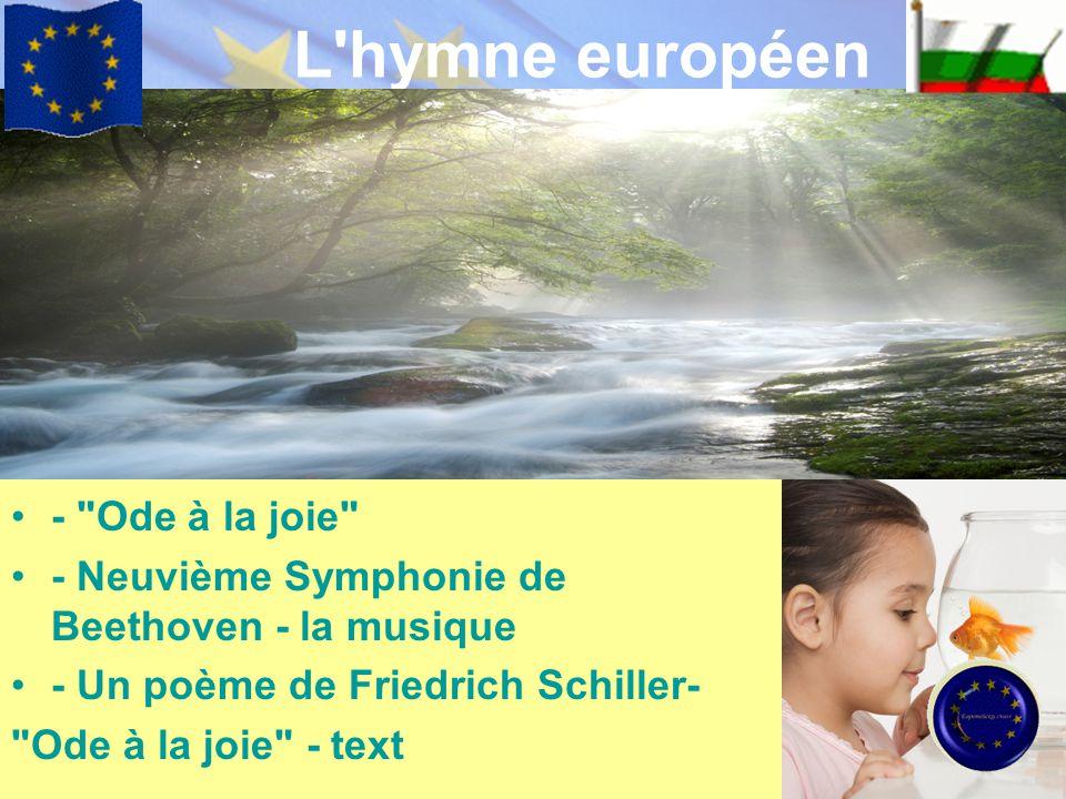 L hymne européen - Ode à la joie
