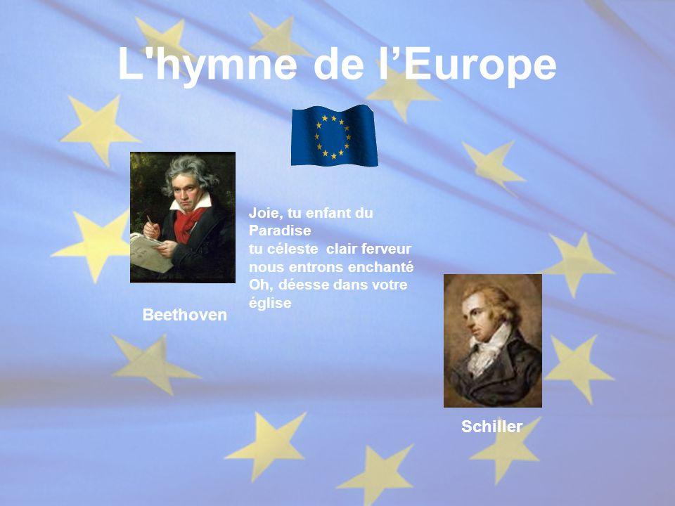 L hymne de l'Europe Beethoven Schiller Joie, tu enfant du Paradise
