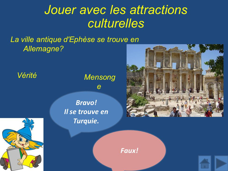 Jouer avec les attractions culturelles
