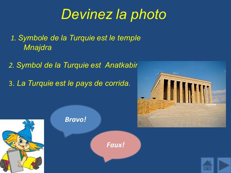 Devinez la photo 1. Symbole de la Turquie est le temple Mnajdra