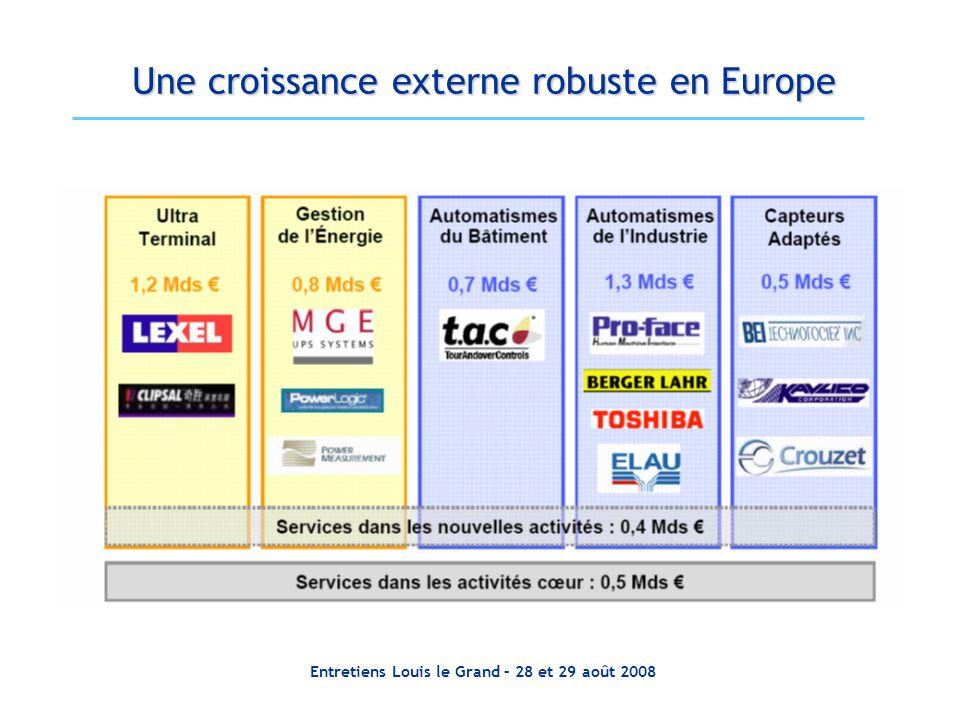 Une croissance externe robuste en Europe