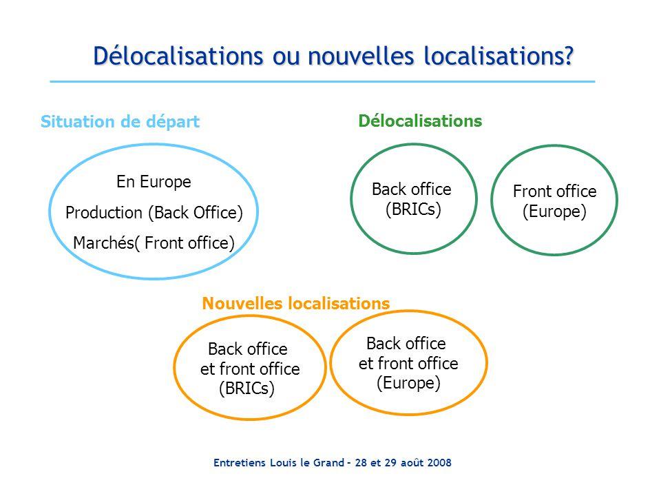 Délocalisations ou nouvelles localisations