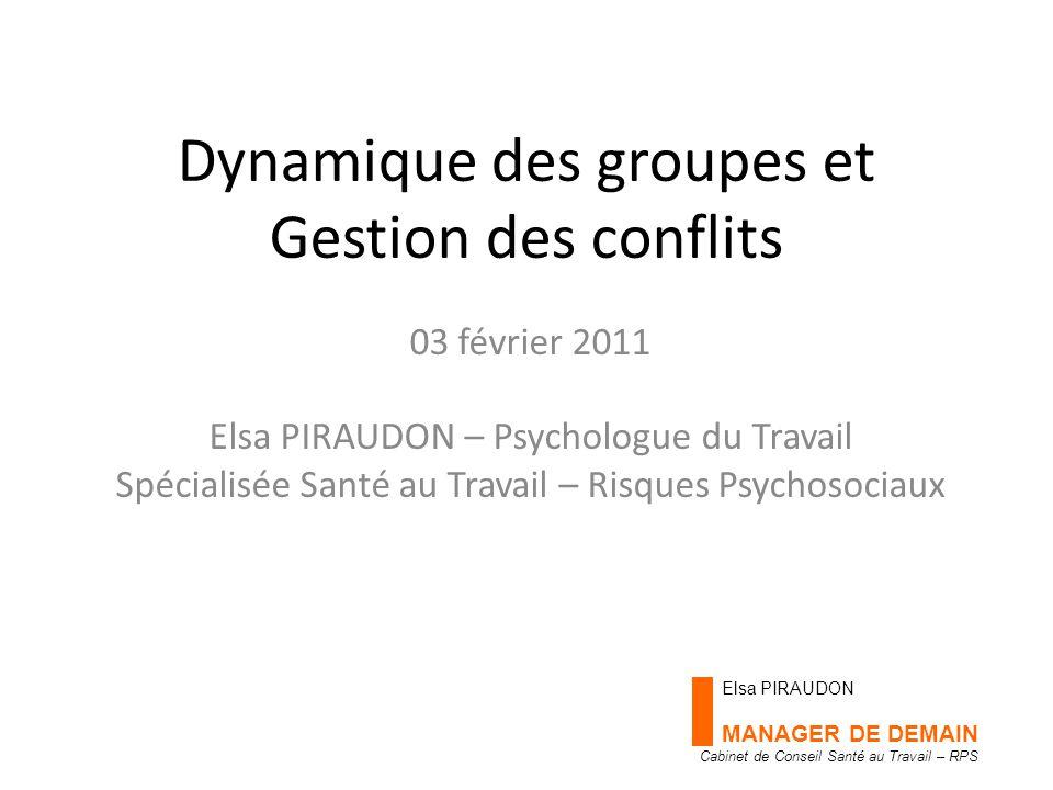 Dynamique des groupes et Gestion des conflits