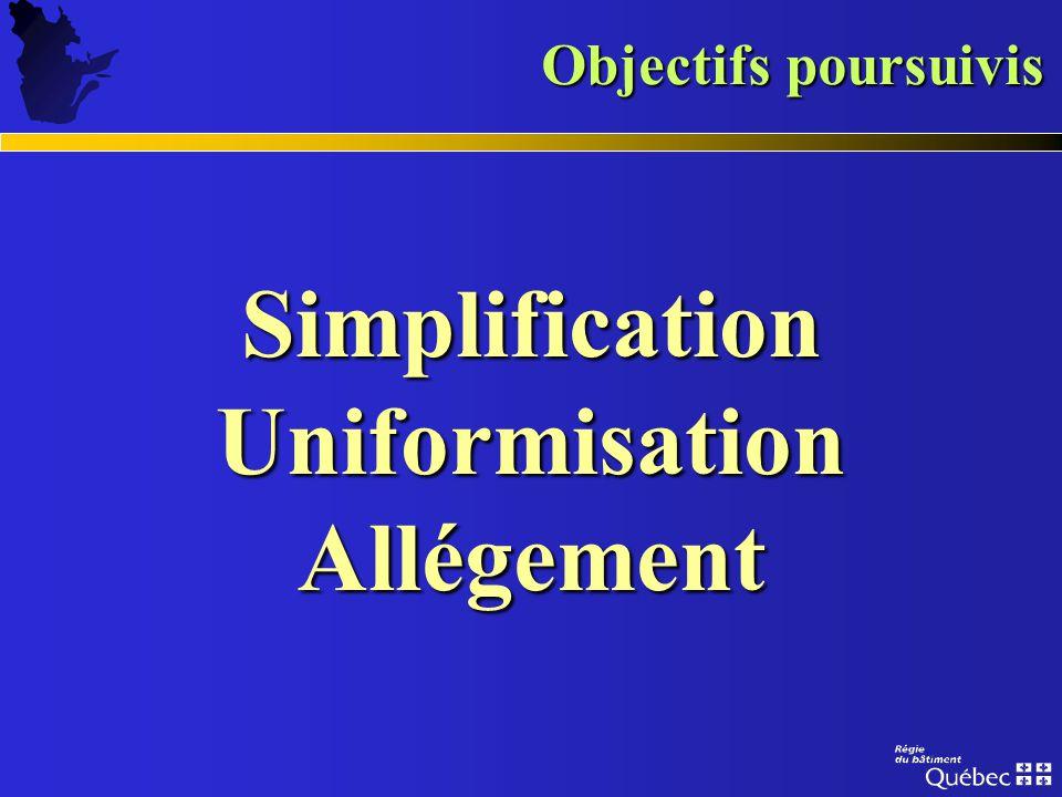 Simplification Uniformisation Allégement