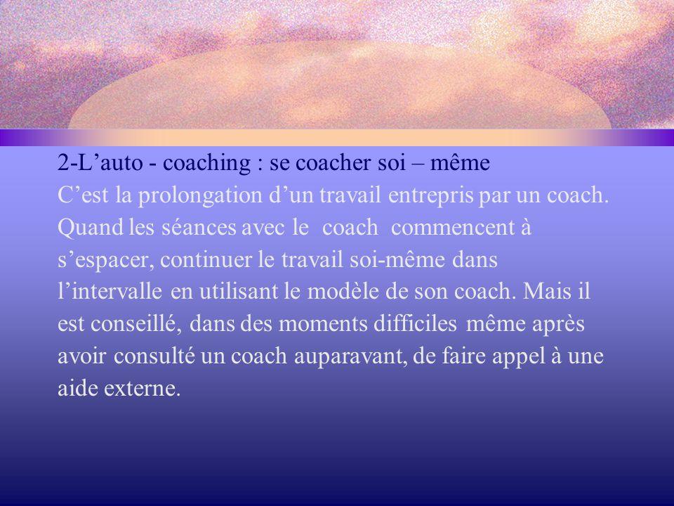 2-L'auto - coaching : se coacher soi – même