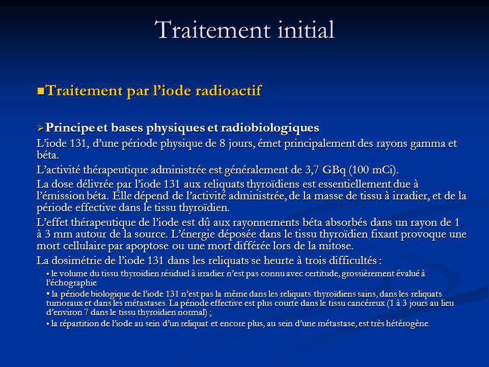 Traitement initial Traitement par l'iode radioactif
