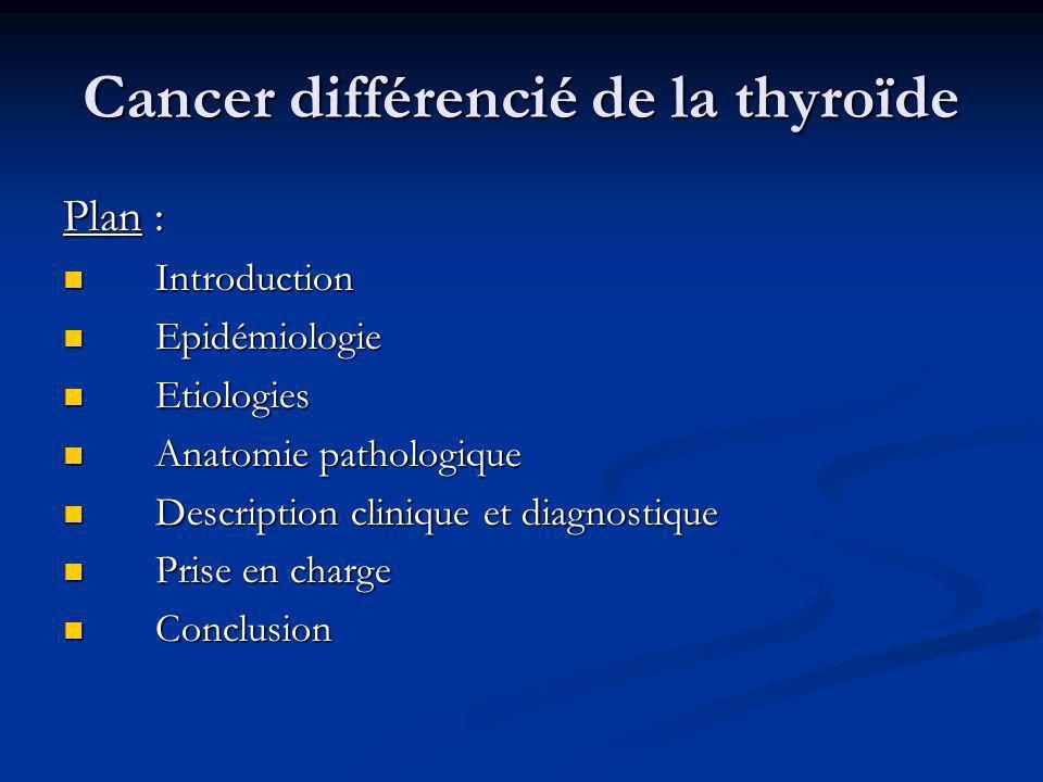 Cancer différencié de la thyroïde