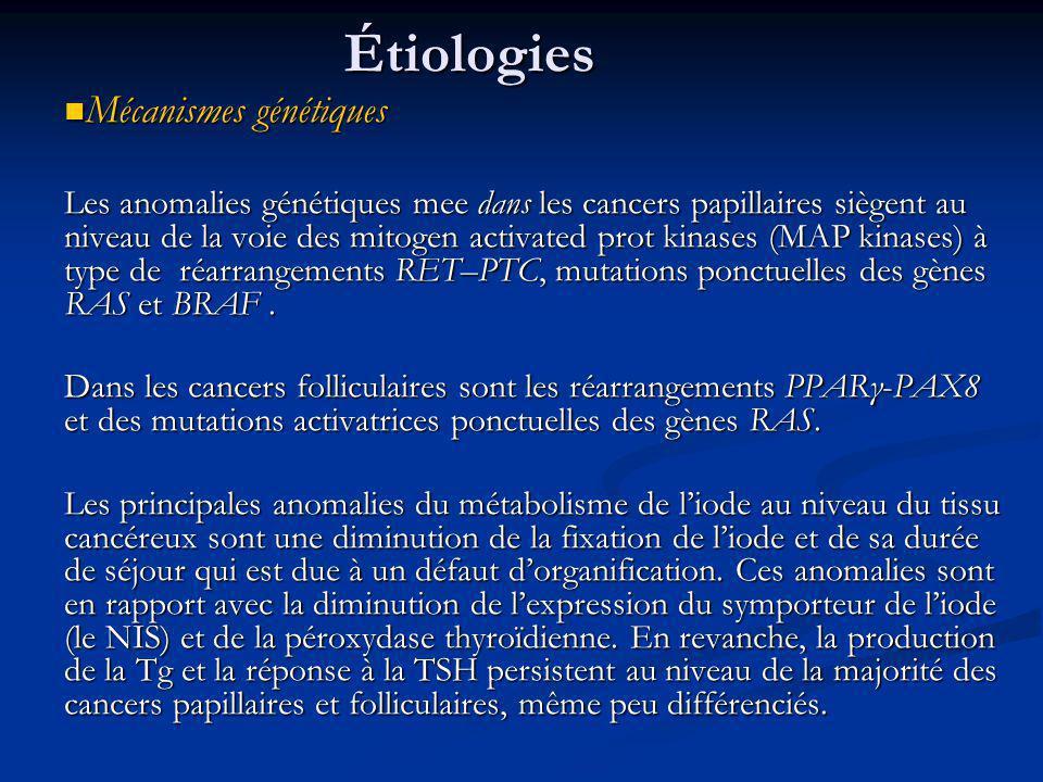 Étiologies Mécanismes génétiques