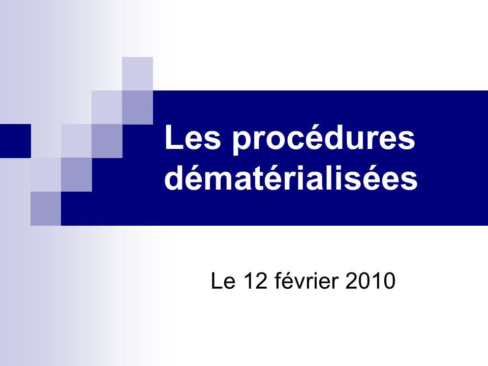Les procédures dématérialisées