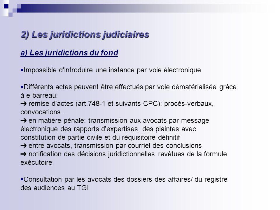 2) Les juridictions judiciaires